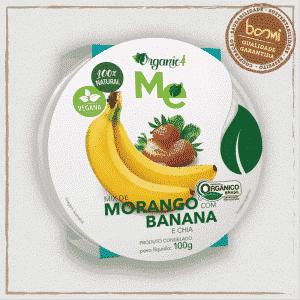 Morango com Banana Orgânico Organic4