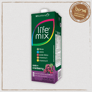 Bebida Baixa Caloria Uva Cranberry Life Mix