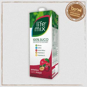 Suco 100% Fruta Ameixa Life Mix 1L