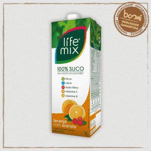 Suco 100% Fruta Laranja Life Mix 1L