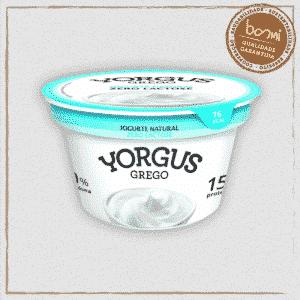 Iogurte Grego Natural Zero Lactose Yorgus