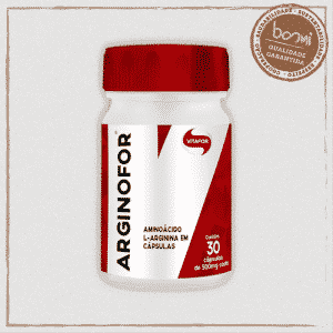 Arginofor Aminoácido 100% L-arginina Vitafor 30 Cápsulas