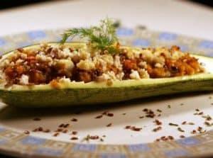 Ingredientes da Receita Canoa de Abobrinha Recheada com Carne Moída