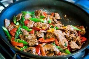 Ingredientes da Receita de Carne com Legumes