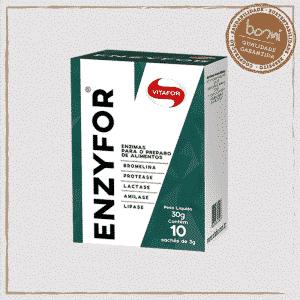 Enzyfor Mix de 5 Enzimas Digestivas 3g Vitafor 10 Sachês