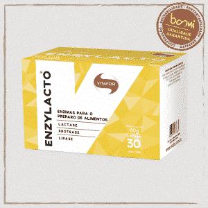 Enzylacto Mix de 3 Enzimas Digestivas 2g Vitafor 30 Sachês
