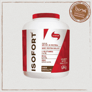 Isofort Whey Protein Isolado Brown Sabor Chocolate Vitafor 1800g