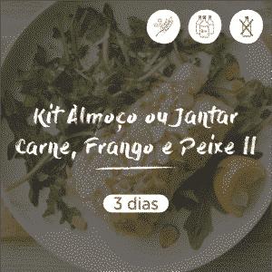 Kit Almoço ou Jantar Carne, Frango e Peixe 2 | 3 dias