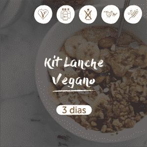 Kit Lanche Vegano | 3 dias