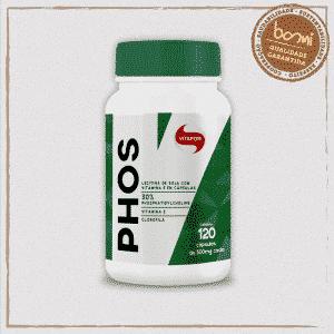 Phos Fosfatidilcolina Clorofila e Vit E 500mg Vitafor 120 Cápsulas