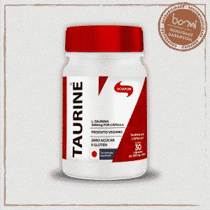 Taurine Aminoácidos 100% L-Taurina 550mg Vitafor 30 Cápsulas