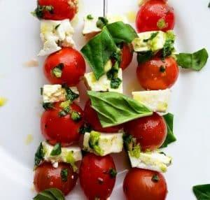 Ingredientes da Receita de Aperitivo de tomate com Queijo Minas