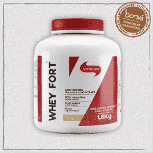 Whey Fort 100% Whey Protein Premium Baunilha 1800g