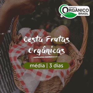 Cesta Frutas Orgânicas | Média (2-3 pessoas) 3 dias