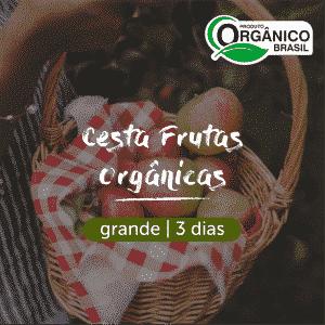Cesta Frutas Orgânicas | Grande (4+ pessoas) 3 dias