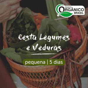 Cesta Legumes e Verduras Orgânicos | Pequena (Individual) 5 dias