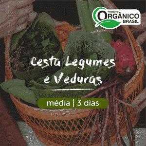 Cesta Legumes e Verduras Orgânicos | Média (2-3 pessoas) 3 dias