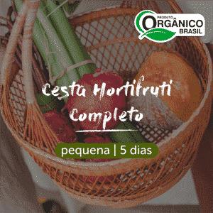 Cesta Hortifruti Completo - Frutas, Legumes e Verduras Orgânicos | Pequena (Individual) 5 dias