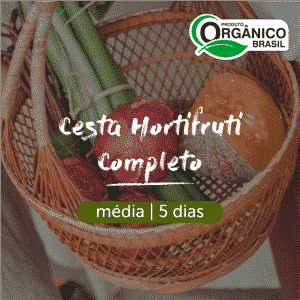 Cesta Hortifruti Completo - Frutas, Legumes e Verduras Orgânicos | Média (2-3 pessoas) 5 dias