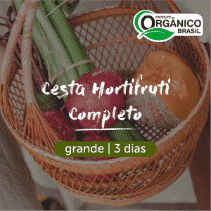 Cesta Hortifruti Completo - Frutas, Legumes e Verduras Orgânicos | Grande (4+ pessoas) 3 dias