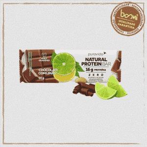 Barra de Proteína Chocolate e Limão Vegana Puravida 60g