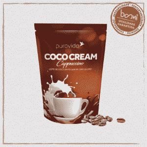 Coco Cream Capuccino Leite de Coco Vegano Puravida 250g
