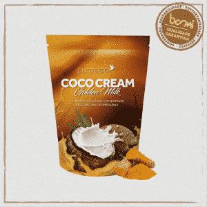 Coco Cream Golden Milk Leite de Coco Vegano Puravida 250g