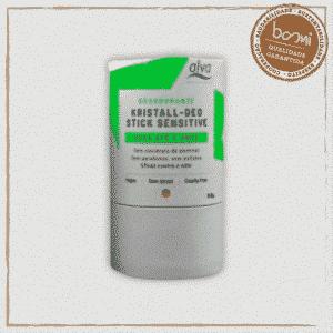 Desodorante Stick Kristall Embalagem Biodegradável Alva 120g 1