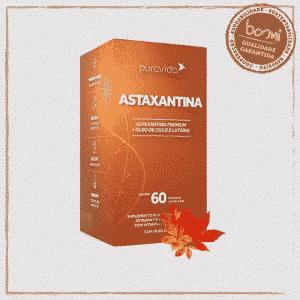 Astaxantina com Óleo de Coco e Luteína Puravida 60 Cápsulas