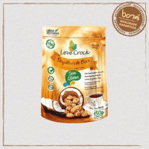 Biscoito Sequilho Coco Sem Glúten Leve Crock 150g