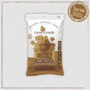 Biscoito Tabletito Salgado Linhaça Dourada, Gengibre e Pimenta Leve Crock 50g
