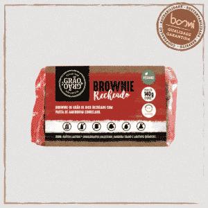 Brownie Vegano Recheado com Pasta de Amendoim Grão + Grão 140g 1