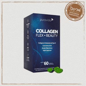 Collagen Flex Beauty com CoQ10 e Ácido Hialurônico Puravida 60 Cápsulas