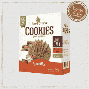 Cookie Low Carb de Baunilha Sem Glúten Leve Crock 30g