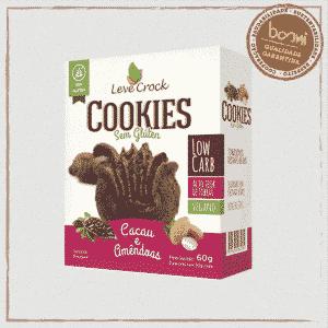 Cookie Low Carb de Cacau e Amêndoas Sem Glúten Leve Crock 30g
