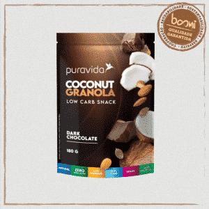 Granola Dark Chocolate Coconut Low Carb Puravida 180g