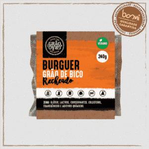 Hambúrguer de Grão de Bico Recheado com Tofu Grão + Grão 240g 1
