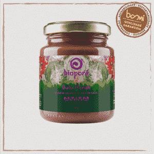 Gula Merah Pasta de Castanha de Caju com Chocolate Vegana Bioporã 210g 1