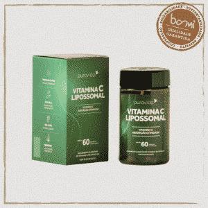 Vitamina C Lipossomal Puravida 60 Cápsulas
