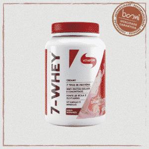 7-Whey Creamy Whey Protein Morango Vitafor 900g