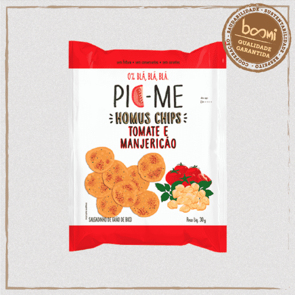 Homus Chips Tomate e Manjericão Pic Me 30g 1