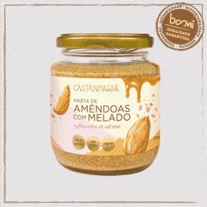 Pasta de Amêndoas com Melado e Sal Rosa Vegana Castanharia 210g