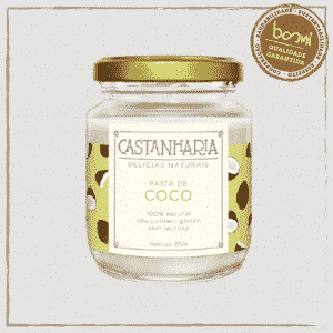 Pasta de Coco Zero Açúcar Vegana Castanharia 210g 1