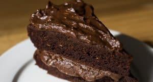Receita de Bolo de Chocolate Amargo à base de Abacate