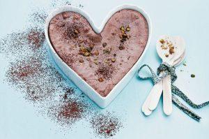 Receita de bolo de chocolate com pistache