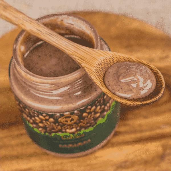 Qahwa Pasta de Castanhas, Cacau e Café Vegana Bioporã 210g 2