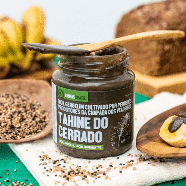 Tahine do Cerrado 100% Gergelim Agrobiológico Vegano Bioporã 210g 3